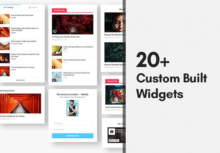 custom built widgets
