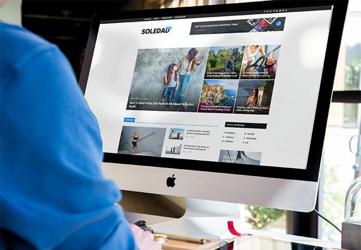 soledad theme opened in iMac