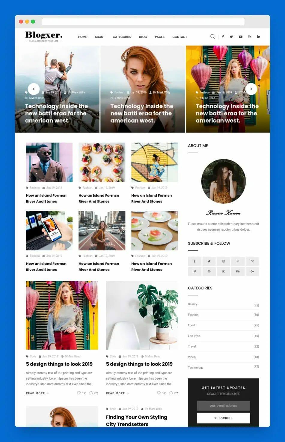 Blogxer Blog And Magazine WordPress Theme